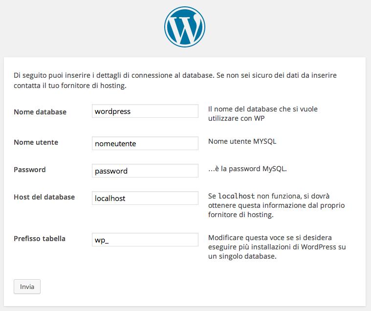 1 installazione wordpress tradizionale