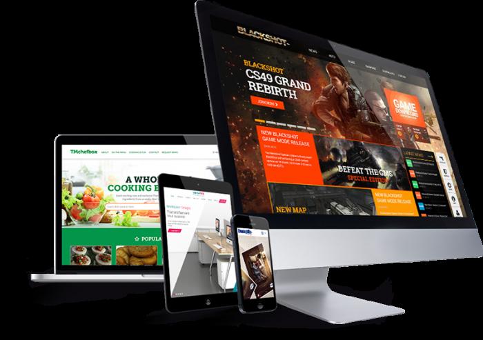 template siti web responsive