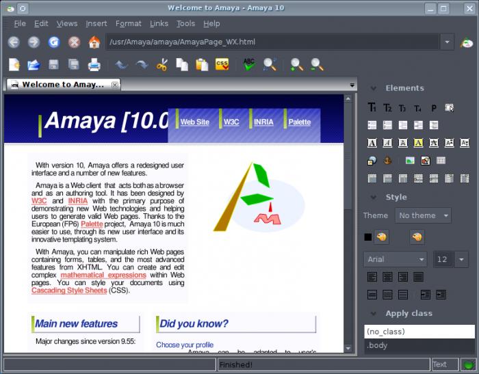 Amaya editor