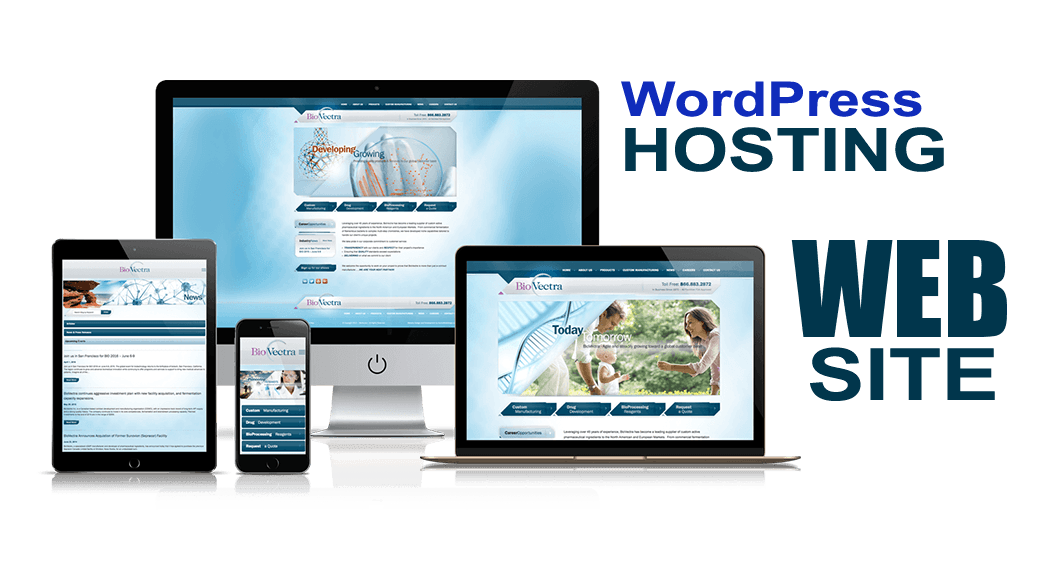 sito web con WordPress hosting